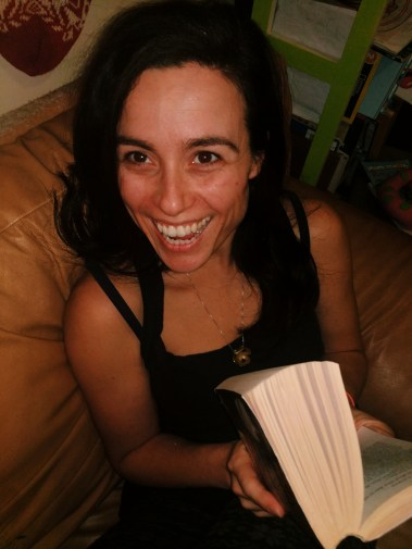 Pure joy. Jen clearly gets excited about books by that smile!