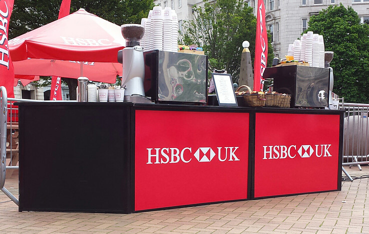 hsbc mobile coffee bar promotion
