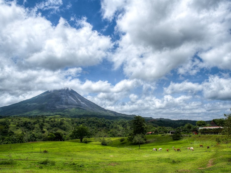 The view of Arenal from our room was pretty awesome