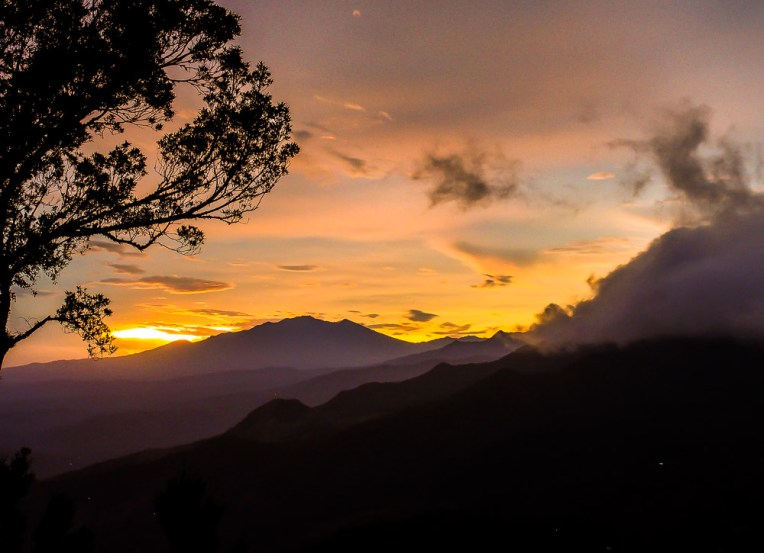 Watching the clouds rolling over the hills as the sun and sky turned different shades of gold and purple was our most memorable night in Panama