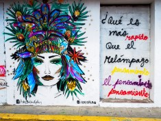 Street art was scattered all over Casco Viejo