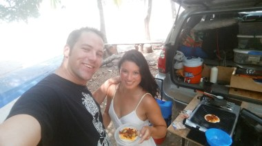 We stopped to make chorizo tacos on the beach just north of the ferry