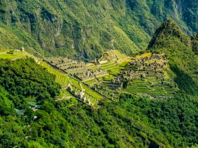 The view looking at Machu Pichu from the sun gate.