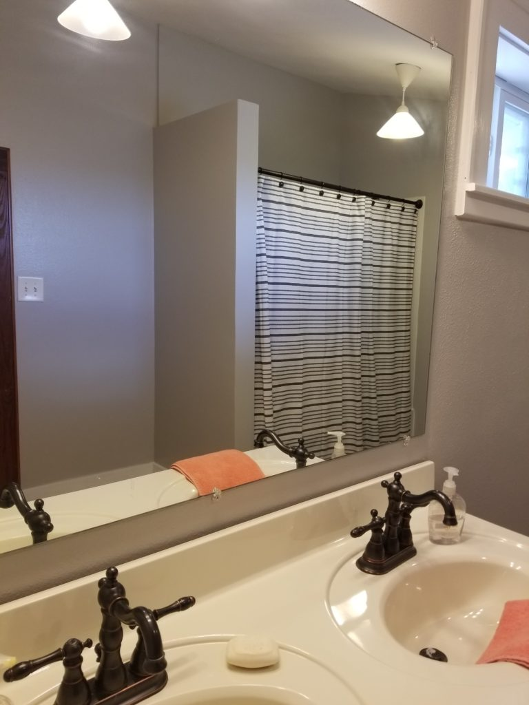 Upstairs Bathroom, redo, paint, Target