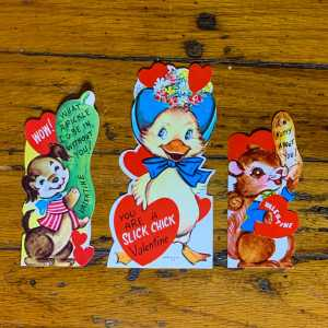 Vintage Valentine Bundle - Dog, Duck, Squirrel