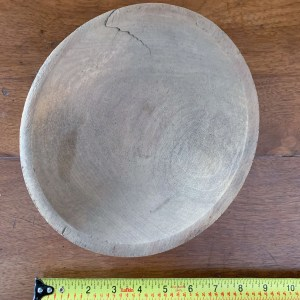 "9"" Antique - Primitive Wooden Bowl"