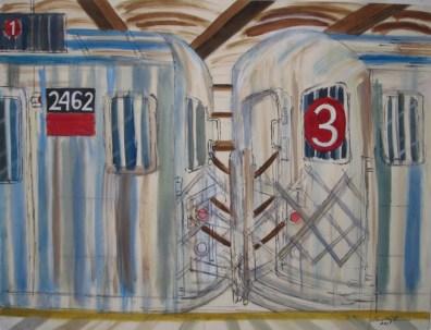 The 3 Train at 14th Street - Enrico Miguel Thomas