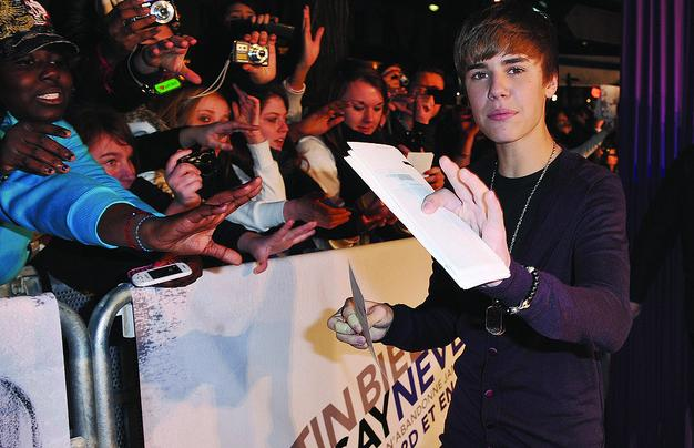 """Justin Bieber at the Paris, France """"Never Say Never"""" movie premiere"""