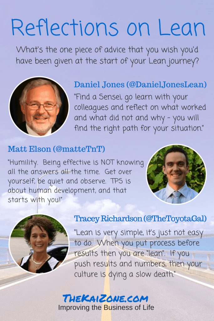 lean advice, lean reflection, career advice, lean thinking, daniel jones, matt elson, tracey richardson