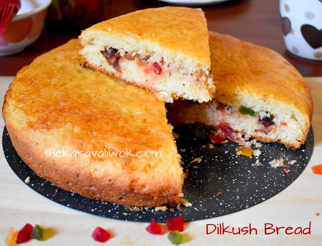 Dilkush Bread Recipe | Dilkhush Recipe | Coconut Bun with Tutti Fruitti Recipe