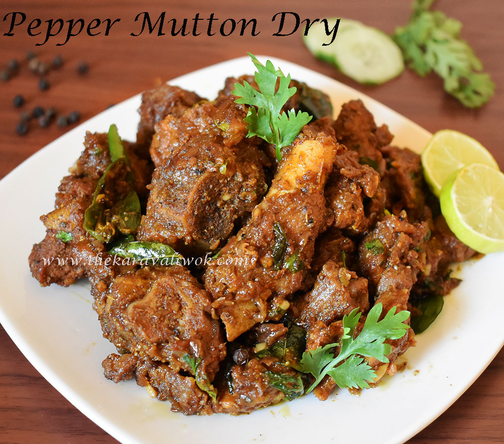 Mutton pepper dry spicy mutton pepper masala recipe the karavali wok mutton pepper dry spicy mutton pepper masala recipe forumfinder Images