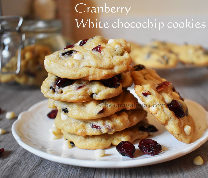 how to make cranberry white chocolate chip cookies