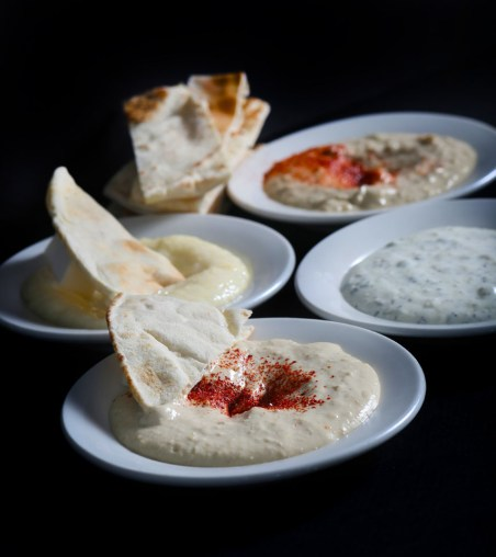 pita bread, garlic pudding, tzatziki, hummus, appetizers, Greek restaurant in Niagara Falls, Mediterranean restaurant in Niagara Falls
