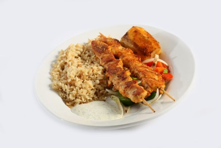 shish kabobs, dinner entrees, Greek restaurant in Niagara Falls, Mediterranean food in Niagara