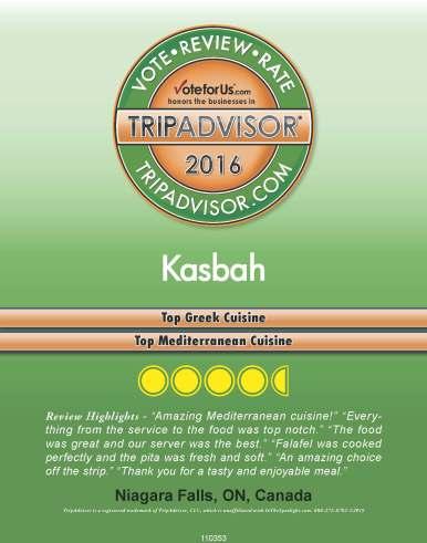 TripAdvisor, best Greek food in Niagara, best Mediterranean food in Niagara, Greek restaurant in Niagara Falls