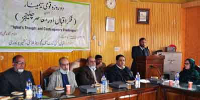 2-day seminar on Allama Iqbal begins at KU