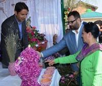 Javaid Mustafa Mir inaugurates mega floriculture fair