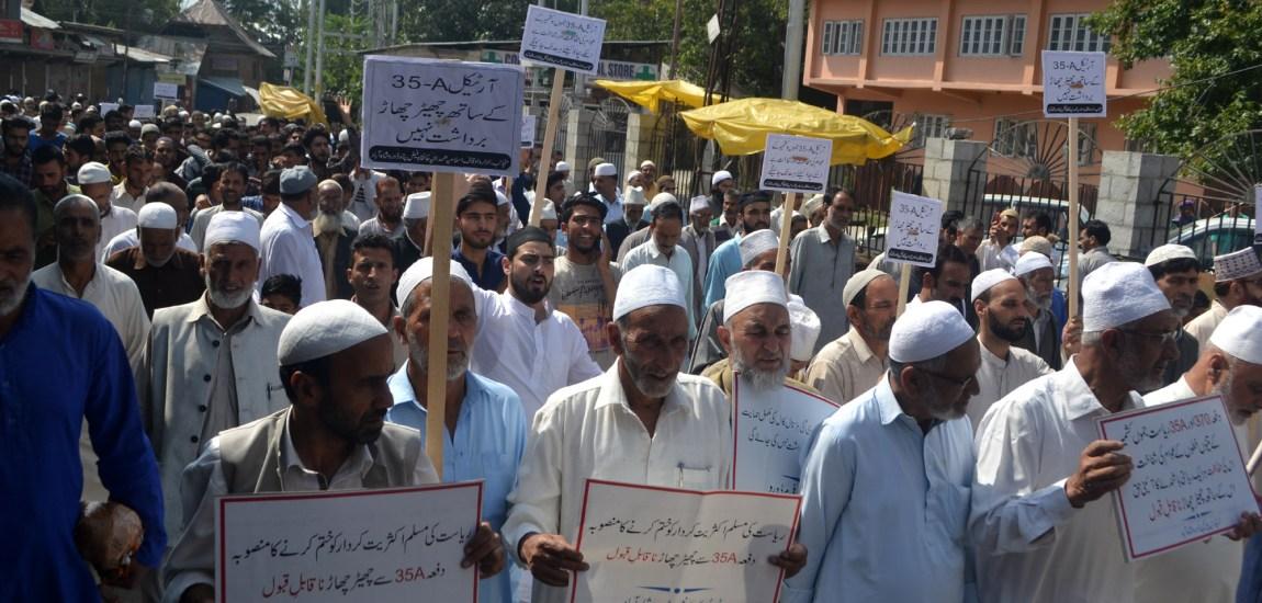 People held a peaceful march in Dooru, Anantnag…