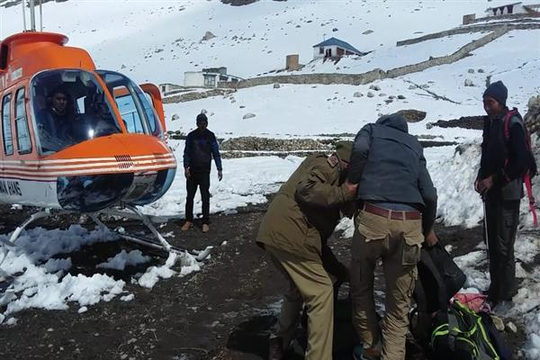 Over 60 stranded people rescued in Jammu and Kashmir's Kargil district
