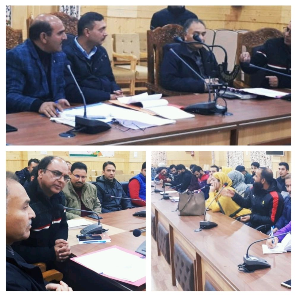 ADC Bandipora reviews enrolment under AB-PMJAY scheme - Kashmir