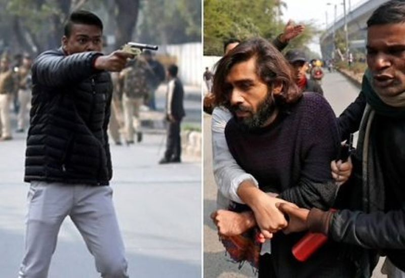 Tense standoff in Jamia after young man fires gun at anti-CAA protesters