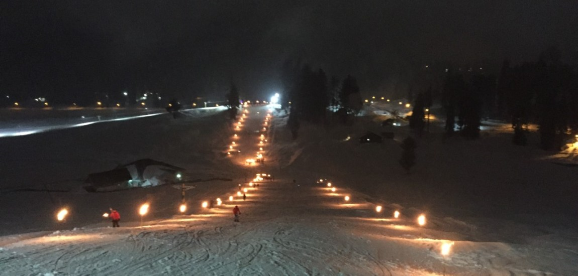 Gulmarg glitters on Friday evening as the resort gears up for Khelo India….