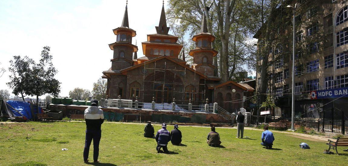 Avoiding congregational Friday prayers, a few locals maintain social distance…