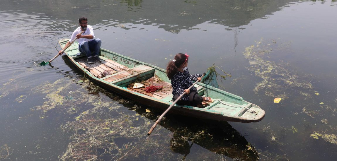 Seven-year-old girl, Jannat, is seen cleaning Dal Lake in Srinagar…