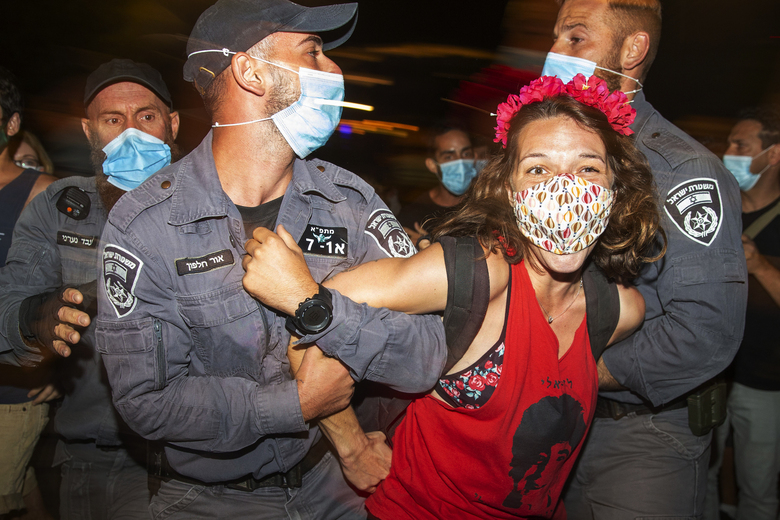 Arrests and clashes follow anti-Netanyahu protests in Israel