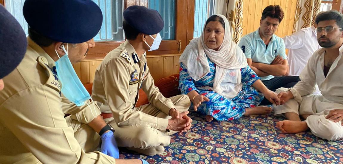 IGP visits family of civilian killed in Sopore, promises 'impartial probe'