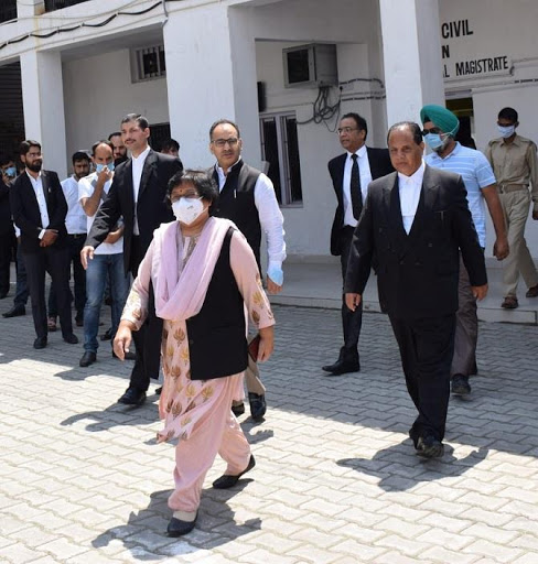 Chief Justice visits district court complex Kishtwar, Doda