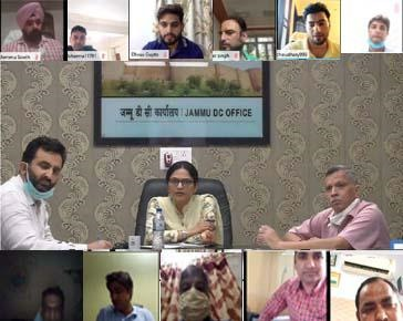 DC Jammu reviews issuance of Domicile Certificate, progress of Jamabandi writing