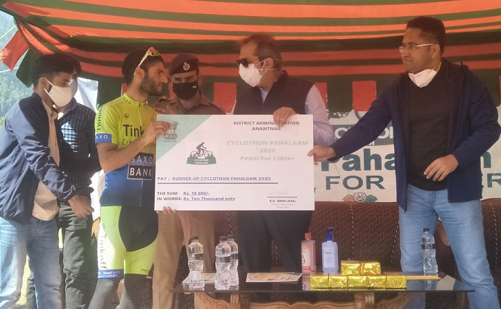 Cyclothon 2020 'Pedal for Lidder' organised in Anantnag