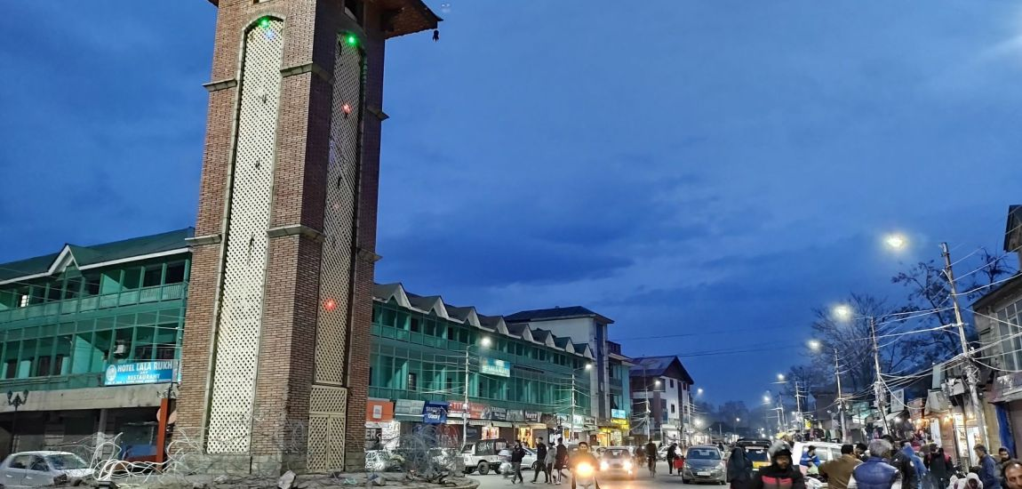 Srinagar's Lal Chowk looked washed and fresh as sun peeped from the clouds…