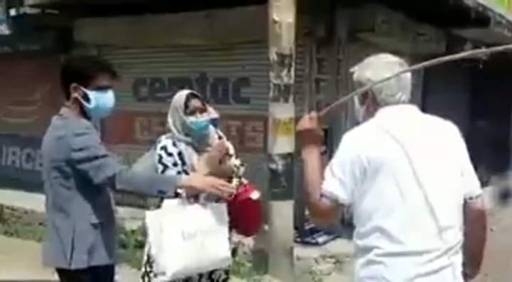 ADC Baramulla thrashes people to enforce lockdown; draws flak from netizens