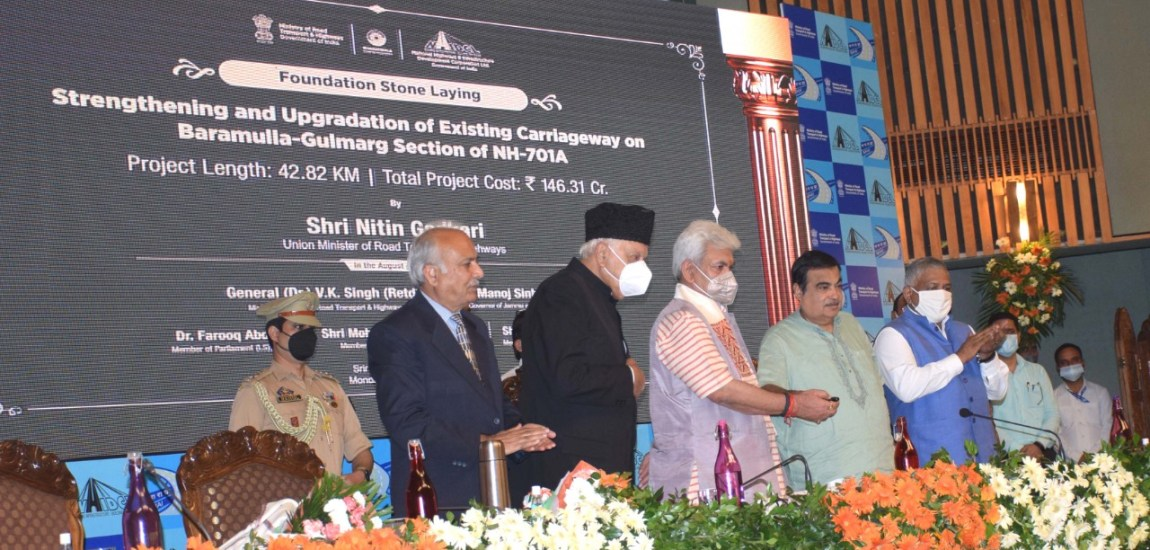 Gadkari, Sinha lay foundation for four National Highway Projects worth Rs 3612 Cr