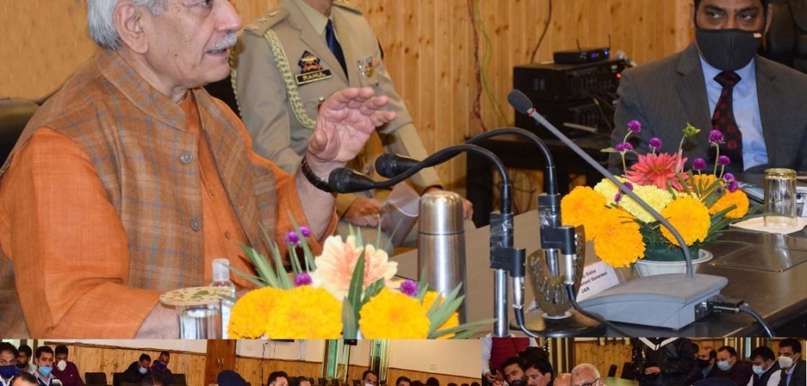 Lt Governor reviews developmental scenario at Ganderbal