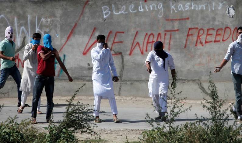 Protest in Barzullah: People demand body of militant killed in Kupwara