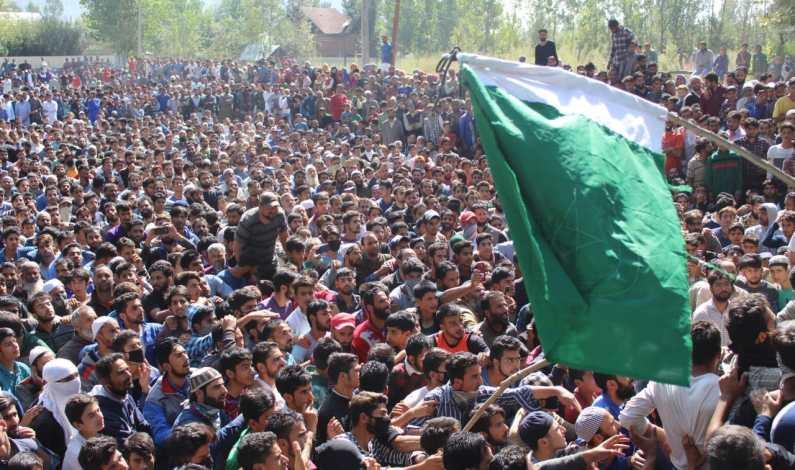 Massive throng at slain Sopore militant's funeral amid 'pro-freedom' slogans