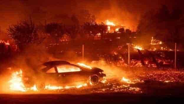 california wildfire, USA