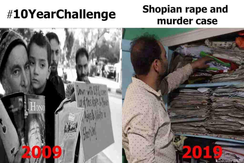 shopian, shopian rape and murder, kashmir, 10yearschallenge