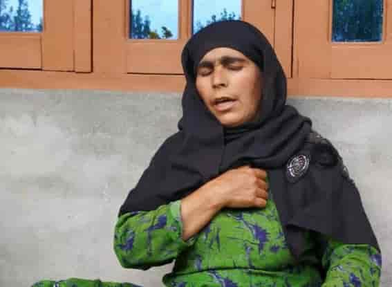 Fatima Banu, mother of civilian arrested in Budgam