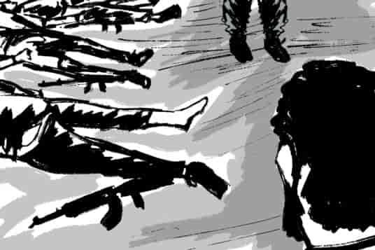 Gunfight, illustration