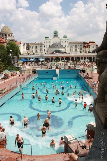 gellert baths  pool waves toddler's guide to budapest