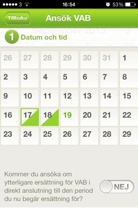 An English Mamma in Stockholm: forsakringskassan app calendar vab
