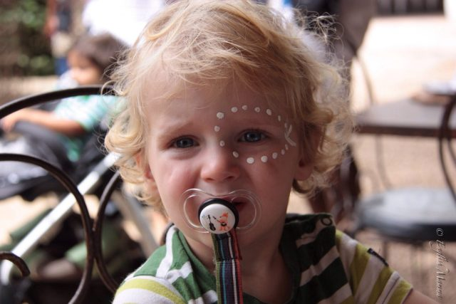 An English Mamma in Stockholm: toddler xhosa face painting moyo spier winery south africa