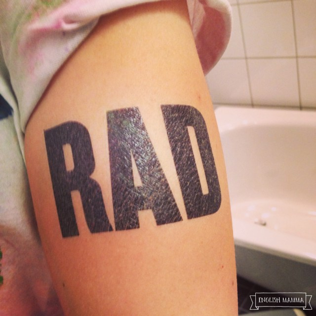 An English Mamma in Stockholm: color me rad tattoo