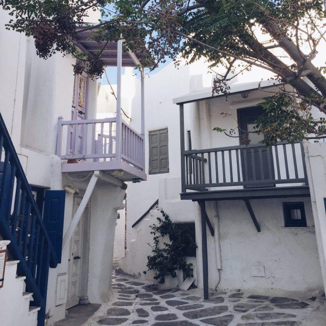 The Kat Edit: quiet side of Mykonos chora mykonos town white houses