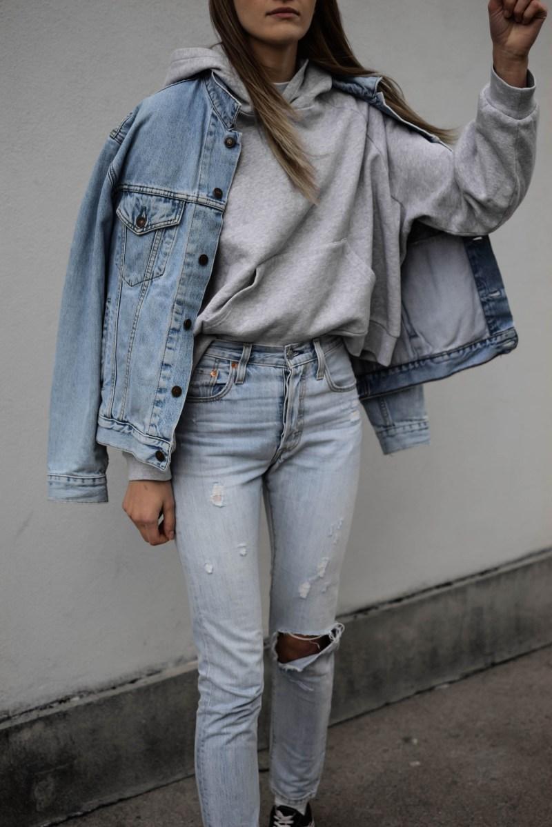 sezane pacey sweatshirt grey oversized hoodie