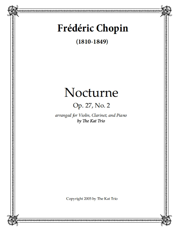 Frederic Chopin – Nocturne Op.27 No.2